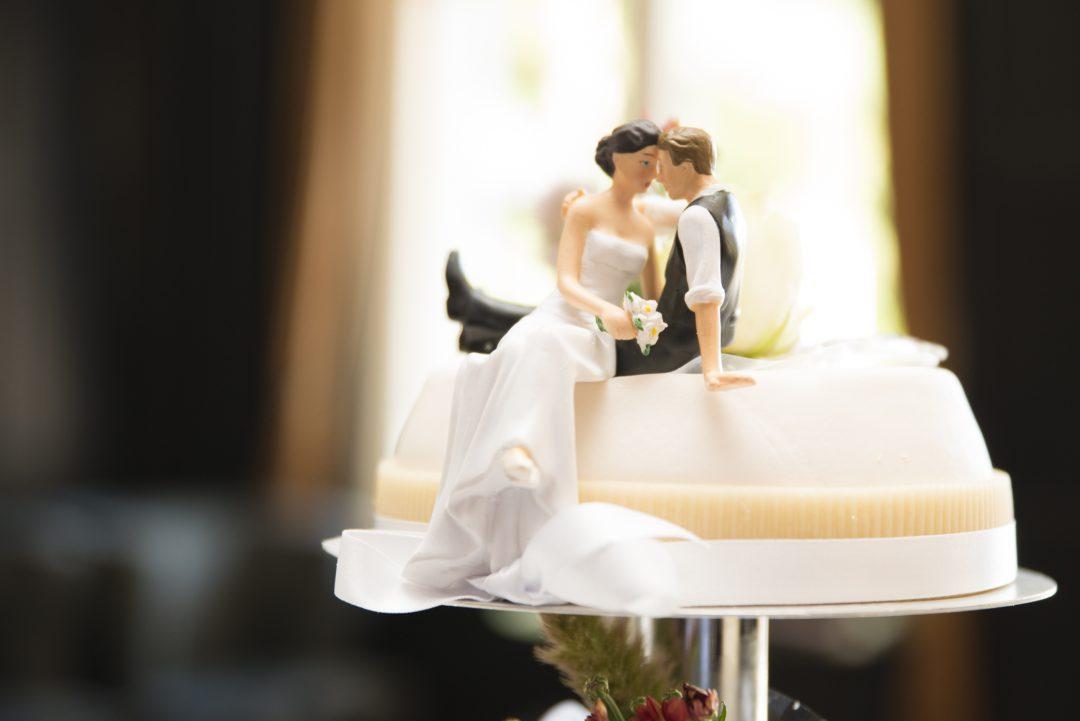 Detail van de bruidstaart