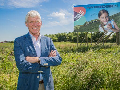voormalig Wethouder Wim van der Leij, bouwproject Broekgraaf