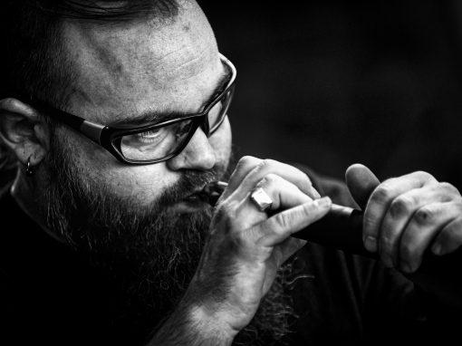 Glasblazer Geir Nustad