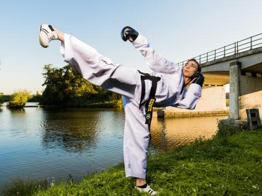 Aktieportret…Wereldkampioene Taekwondo
