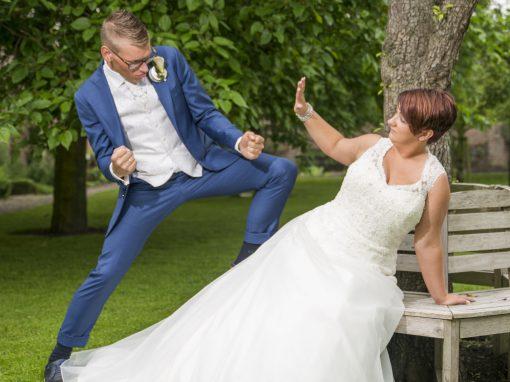 Ook humor mag niet ontbreken in trouwfotografie