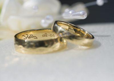 De ringen worden altijd gefotografeerd